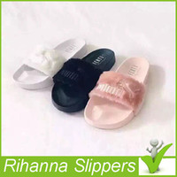 Wholesale 2016 Jointly Collaboration Style Rihanna Creeper Women Summer Slipper Fenty Outdoor Sandals Fashion Cool Women Girl Slipper Hot Sale