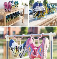 Wholesale 4Pieces Creative shoe rack children receive Multifunctional shoe rack hang drying rack household storage holders