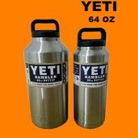 beer proof - Yeti OZ OZ OZ YETI Tumbler Rambler Cups Stainless Steel Tumbler Mugs Travel Vehicle Beer YETI Mug Leak proof cup Christmas Gifts