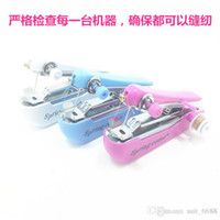 assembly manuals - Small mini household sewing machine manual sewing machine simple and convenient portable pocket sized manual sewing eat thick