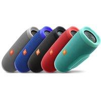 al por mayor altavoz recargable-Más caliente JBL carga 3 Splashproof altavoz portátil Bluetooth altavoz de la batería recargable con azul / verde / negro / rojo / gris