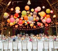 Wholesale cm Chinese Paper Lantern Lamp Festival Wedding Party Decoration White Lanterns New
