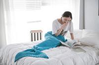 Wholesale WYJ cm cm new mermaid blanket sofa blanket air conditioning blanket tail tails TV blanket manufacturers
