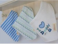 al por mayor conjuntos de paño burp bebé-3pcs / set momscare niños niño recién nacido de los baberos del Bandana saliva de la toalla de la toalla de algodón paños del Burp del animal de la historieta K7074 BJ
