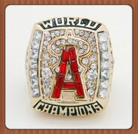 angeles souvenirs - For Los Angeles Angels MLB Fans League Championship Ring Solid Souvenir Sport Ring Gold Plated Alloy Rings For Men