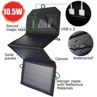 Wholesale Solar Charger Pack W USB Foldable Outdoor Solar Panel Black for Mobile Phone Power Bank Charging Clear Energy High Efficiency