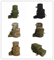 Wholesale The system can hang a large water bottle waist pack bag Tactical kettle package plug Hot Sale Super High Quality Men Backpacks Molle Camou