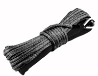 Wholesale 12000lb high tech meter Grey uhmwpe winch rope tow rope best used for x4 ATV UTV factory direct