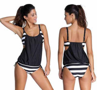 Wholesale 2016 New Bikini Summer Women Sexy Striped Bikinis Sets Swimsuit Bathing Suits Plus Size S M L XL XL XL