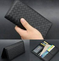 Wholesale 2016 Original Real Leather Womens Card Holder Knitted Purse Luxury Brand Designer Lady Long Coin Purse Weave Wallet Clutch