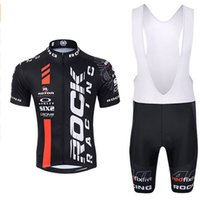 Wholesale Cool Rock Racing Team Bike Cycling Jerseys Black Red Color Available Short Sleeve Racing Bicycle Wear Bib None Bib Pants