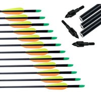 Wholesale Fiberglass Arrow with Replaceable Arrowhead and Plastic Feather for Long Bow Hunting