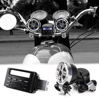 acura audio system - car dvd Motorcycle Sound Audio Radio System Handlebar V Full band FM Stereo Speakers ATV Bike With mm AUX jack to link MP3 device
