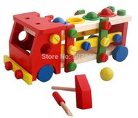 ball screw assembly - 15pcs High Quality educational wooden toy disassembly assembly screw vehicle nut car knock balls baby toy