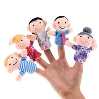 Wholesale 1Set Stylish Family Finger Puppets Kid Baby Play Game Sleep Story Plush Toy Gift pOru