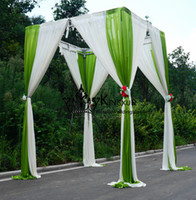apple green curtains - Nice Looking White And Apple Green Color Cube Wedding Backdrop Curtain For Decoration