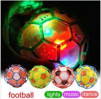 Wholesale New fancy electric dancing toy balls singing Bouncy Balls Flashing ball toys Bouncing Ball dhl