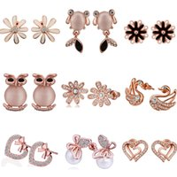 Wholesale Mixed order women s jewelry rose gold earrings Many optional