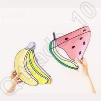 Wholesale 50pcs LJJC4211 High Quality Designs Monki Banana Watermelon Clutch Cartoon D Cosmetic Bag Watermelon Clutch Banana Clutch Makeup Handbag