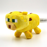 achat en gros de minecraft stuff animals-23cm Minecraft Peluche Jaune Minecraft Ocelot Stuffed Animal Chat Peluche JJ Véritable Dolls Cartoon Kids Game Jouets Cadeaux