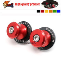 abs cnc - For DUCATI Panigale Monster Red Motorcycle CNC Aluminum Swingarm Spools slider mm stand Screws