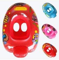 Wholesale Mickey McQueen Thomas Bee Hello KT Snow White Kid Cartoon Inflatable Swimming Life Ring Inflatable Swimming Ring with Handle LJJC1526