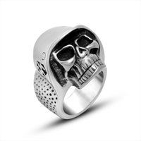 Wholesale 2016 Hot Selling BEIER Cheap Cool Hell Death Skull Ring Man Never Fade Punk Biker Man s High Quality Ring SA818
