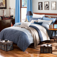 aqua duvet sets - Wonderland cotton reactive printing bedding set bedsheet duvet cover pillowcases