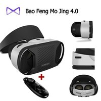 Wholesale 100 original Google cardboard Baofeng Mojing IIII for android VR Virtual Reality Glasses Bluetooth Wireless Mouse Gamepad