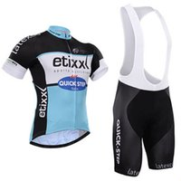Wholesale 2015 quick step pro cycling jersey bibs shorts set quick dry team etixx cycling tights bike bottms gel pads suit
