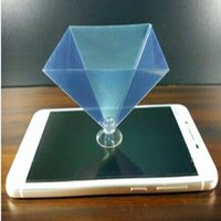 Wholesale Hologram D showcase holographic frame pyramid by cellphone smartphone d dispaly box holographic display d