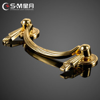 Wholesale antique copper drawer handle European cabinet handle European classical cabinet drawer handle