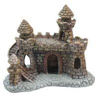 aquarium decorating - Aquarium Ornament Castle Tower Fish Tank Shrimp House Cave Craft DIY Decorate