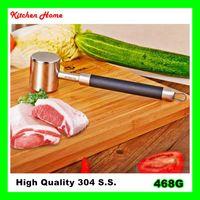 al por mayor manijas de cocina negras-2 lados 304 S.S. Las agujas de alto nivel de los amasadores de la carne con la manija antiadherente las herramientas de la carne de la cocina del acero inoxidable liberan el envío libre