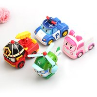 Wholesale 2016 hot sell Mini car Mini ROBOCAR POLI robot deformation team deformation robot kids toy