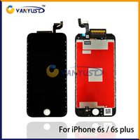 Wholesale Grade A LCD Display Touch Digitizer Complete Screen Panels Full Assembly Replacement For iPhone s iPhone s plus screens