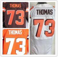 Wholesale 73 Joe Thomas jersey Cleveland white brown orange shirt size small s xl top quality