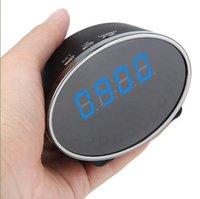 Wholesale 1080P Panda Digital Alarm wifi Clock Spy Camera Motion Detection Clock Spy Cam M Pixels Mini Clock DVR Degree View Angle