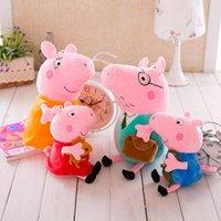 baby gi - One Set cm Ever Pig Mummy Daddy Family Plush Toy Pink Doll Good Quality Fast Christmas Kid Baby Gi