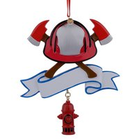 Wholesale Maxora Firefighter Personalized Polyresin Christmas Ornament As For Holiday Fire Festival Gifts