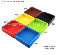 Wholesale 10 cm New Portable Soft fashion Eco Friendly Pocket Shatterproof Cigar Rubber Silicone plastic Square Ashtray Ash multiple color best