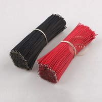 Wholesale Breadboard Jumper Cable Wires For Experiment Test Tinned cm Red Black