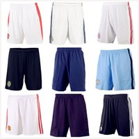 ac prints - Thai Home Away Third Madrid Shorts Juventus Manchester AC Milan Chelsea Soccer Shorts Blue Short Pants Free Print Number