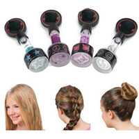 Wholesale hot sale set hair glittery Stamps Peace Flowers women Hair Glitter girl Hair Styling colors