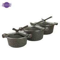 Wholesale flatbottomed soup pot thickening cm with induction cooker colorful body inside with ceramic coating