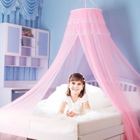 Wholesale Luxury Hang Dome Mosquito Net degree ventilating lace bed net for babies childrens bedroom decor
