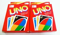 Wholesale Classic Desktop Games Coated Paper UNO Solitaire Uno Uno UNO Playing Cards Poker Quality Assurance