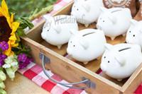 bank ceramic - DHL Li l Saver Ceramic Mini Piggy Bank Baby Shower Ceramic Wedding Favors Souvenirs Party Table Decoration Ideas