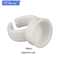 Wholesale Disposable ring cup tattoo pigments cups sponge tattooequipment and sent white ring set ink holder