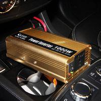 Wholesale 1000W V V V AC Household Car Solar Power Inverter Converter Adapter Modified Sine Wave Form
